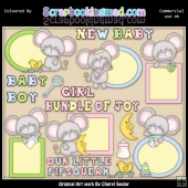 Mouse Peekers Baby EXCLUSIVE ClipArt Collection