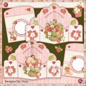 Strawberry Bear and Mouse Pop Out Pocket Cards