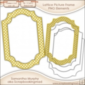PNG Lattice Picture Frame - CU OK