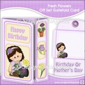 Fresh Flowers Off Set Gatefold Card