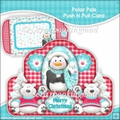 Polar Pals Push N Pull Card & Envelope