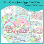 Here Comes Santa Large Easel Card