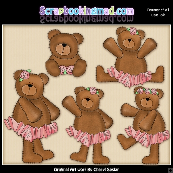 Ballerina Bears Graphic Collection