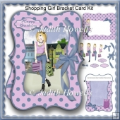Shopping Girl Bracket Card Kit