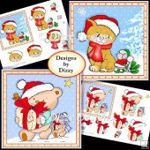 Cute Christmas Card Fronts with decoupage