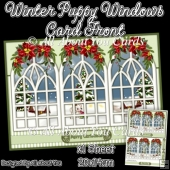 Winter Puppy Windows Card Front
