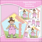 Happy Birthday Bunches 1 Decoupage Download