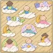 Baby Angels ClipArt Graphic Collection