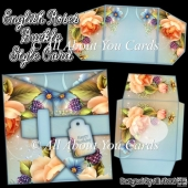 English Roses Buckle Style Card