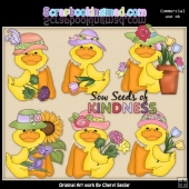 Flower Ducks ClipArt Collection