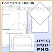 Diamond Top Card Kit & Envelope Template Commercial Use