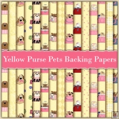 15 Yellow Purse Pets Backing Papers Download (C220)