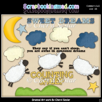Counting Sheep ClipArt Collection
