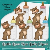 Bottle Bear New Baby Clipart