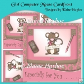 Girl Computer Mouse Cardfront