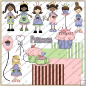 Little Miss Cup Cake ClipArt Graphic Collection 1