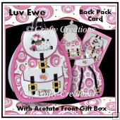 Luv Ewe - 3D Back Pack Card