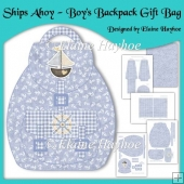 Ships Ahoy Boys Backpack Gift Bag