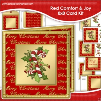 Red Comfort Joy Large 8x8 Card Kit