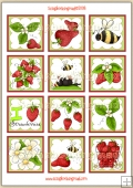 Strawberry Patch Topper Sheet PDF Download