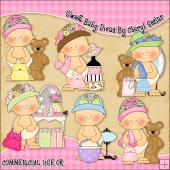 Sweet Baby Divas ClipArt Graphic Collection