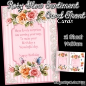 Rosy Glow Sentiment Card Front
