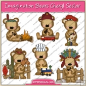 Imagination Bears ClipArt Graphic Collection - REF - CS