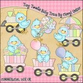 Tiny Tweets Baby Train ClipArt Graphic Collection