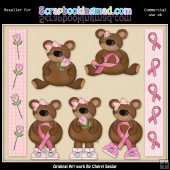 RESALE ART WORK - Breast Cancer Bears Collection