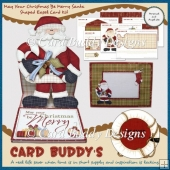May Your Christmas Be Merry Santa Shaped Easel Card Kit