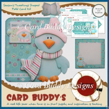 Season's Tweetings Shaped Fold Card Kit