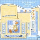 You Quack Me Up Pop Out Stepper Card