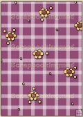 Backing Papers Single - Purple Checks & Flowers - REF_BP_64