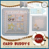 Baby Boy Rounded Corner Fold Card Kit