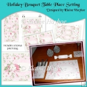 Holiday Bouquet Christmas Table Place Setting