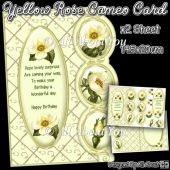 Yellow Rose Cameo Card