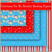 5 Cute Christmas For My Brother Backing Papers Download (C199)