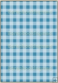 A4 Backing Papers Single - Blue Gingham - REF_BP_147