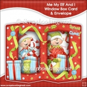 Me My Elf and I Double Window Box Card and Envelope
