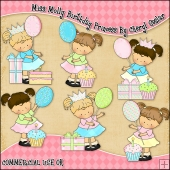 Miss Molly Birthday Princess ClipArt Graphic Collection
