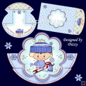Winter Boy Stepper Rocker Card