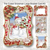 The Cutest Snowman Large Bracket Card Kit