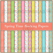 15 Spring Time Backing Papers Download (C165)