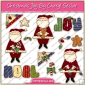 Christmas Joy ClipArt Graphic Collection - REF - CS