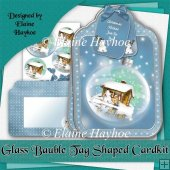 Glass Bauble Tag Shaped Card Kit