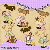 Miss Molly Play Date ClipArt Graphic Collection