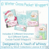 10 Winter Cocoa Packet Wrappers