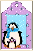 Winter Penguins Gift Tag - REF_T630