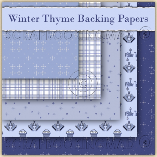 Winter Thyme 5 Backing Papers Download (C52) - Click Image to Close