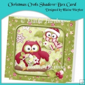 Christmas Owls Shadow Box Card Kit